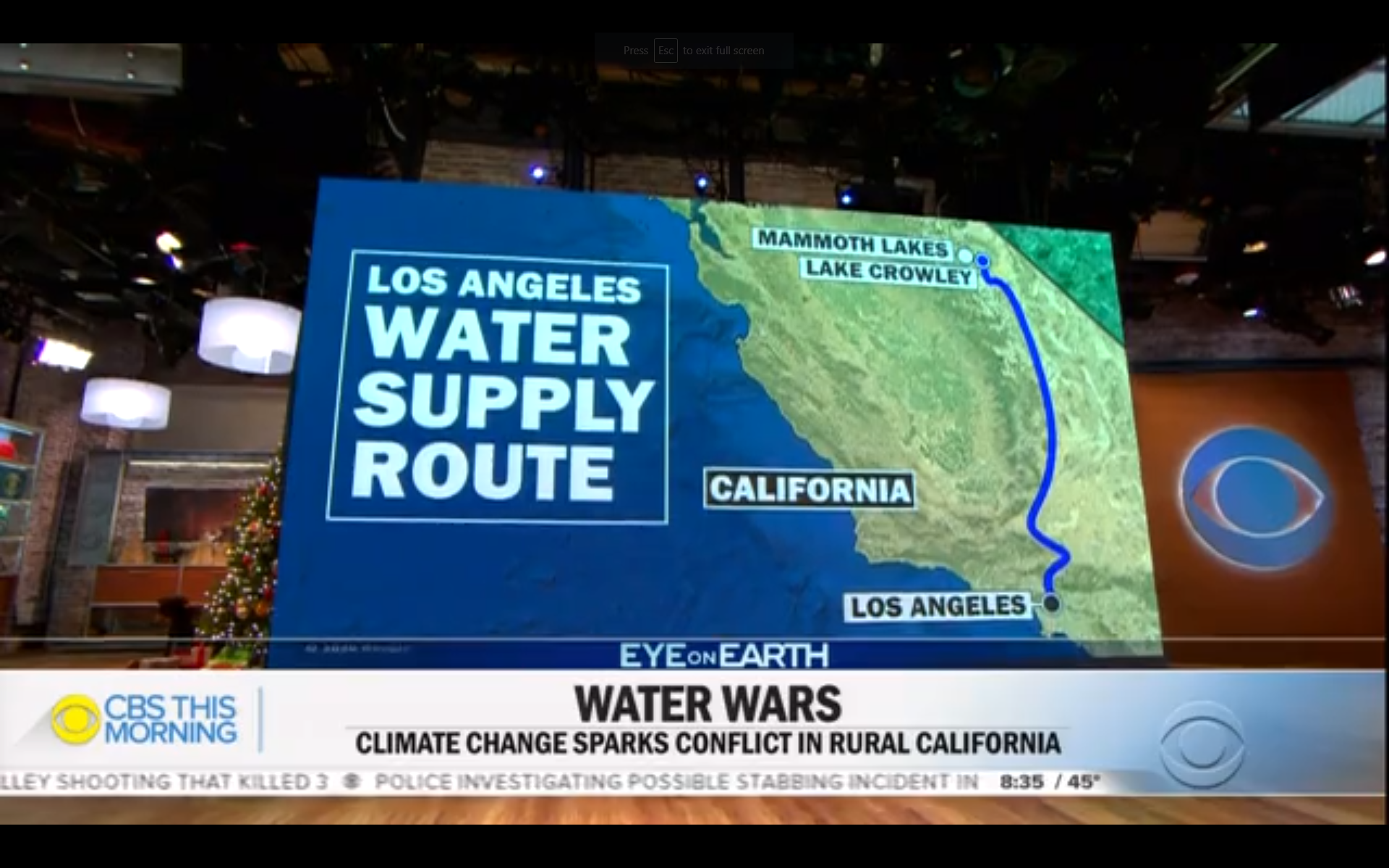 """CBS Highlights Long Valley in """"Water Wars"""" Story 